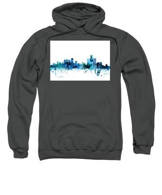 Detroit Michigan Skyline Sweatshirt