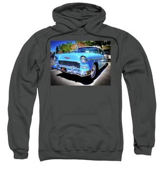 1955 Chevy Baby Blue Sweatshirt