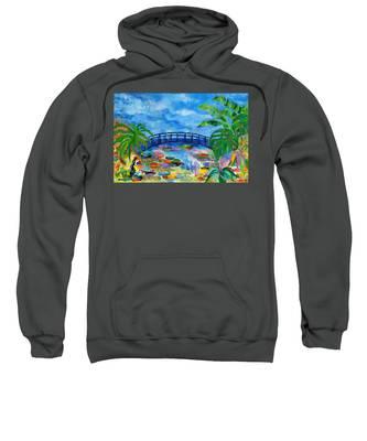 Monet Garden Hooded Sweatshirts T-Shirts