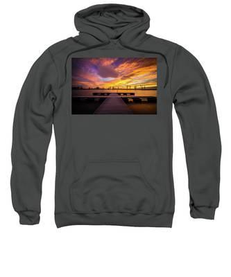 Boat Dock Sunset Sweatshirt