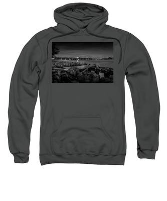 Bridge To Longboat Key In Bw Sweatshirt