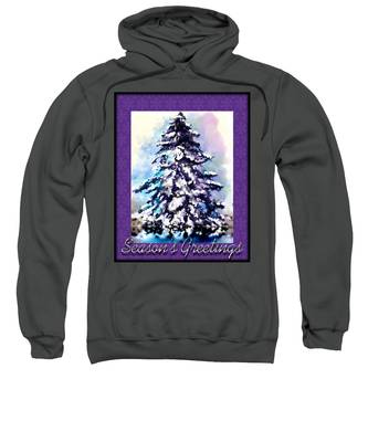 Sweatshirt featuring the painting Christmas Tree by Susan Kinney