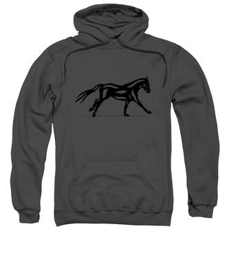 Clementine - Abstract Horse Sweatshirt by Manuel Sueess