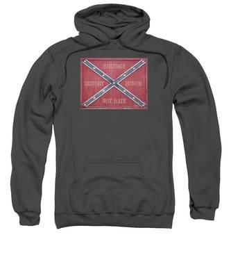 Confederate Flag On Wooden Door Sweatshirt