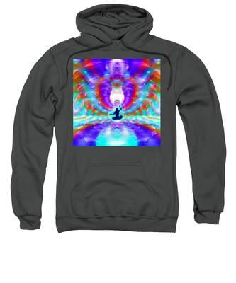 Cosmic Spiral 72 Painted Sweatshirt by Derek Gedney