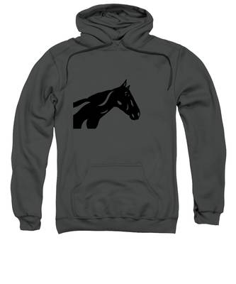 Sweatshirt featuring the painting Crimson - Abstract Horse by Manuel Sueess