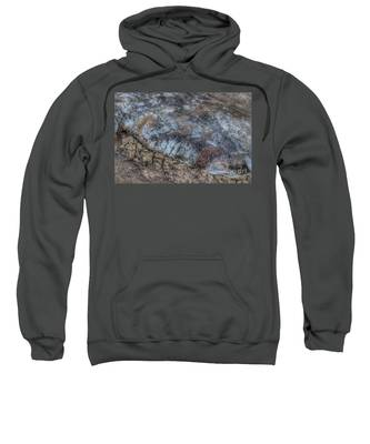 Delaware River Ice With Leaves Sweatshirt