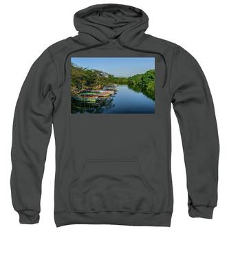 Boats By The River Sweatshirt