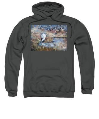 Ducks. Split Opposite Colour Harmony.  Sweatshirt