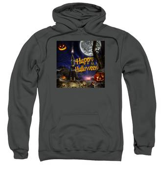 Evocation In Halloween Night Greeting Card Sweatshirt