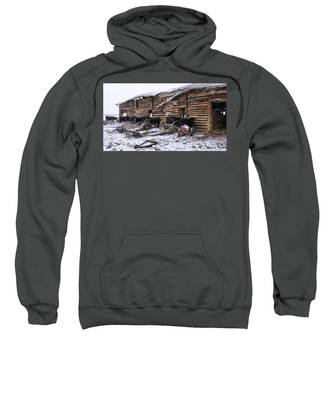 Sweatshirt featuring the photograph Frozen Beef by Susan Kinney