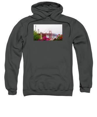 Golden Gate Bridge Flowers 2 Sweatshirt