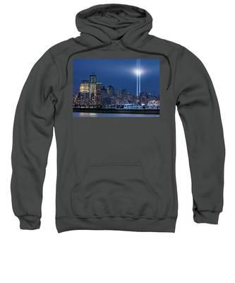 Ground Zero Tribute Lights And The Freedom Tower Sweatshirt