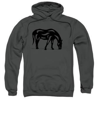 Hazel - Abstract Horse Sweatshirt by Manuel Sueess