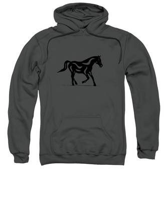 Sweatshirt featuring the painting Heinrich - Abstract Horse by Manuel Sueess