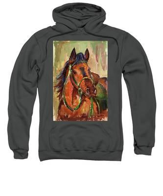 Impressionist Horse Sweatshirt