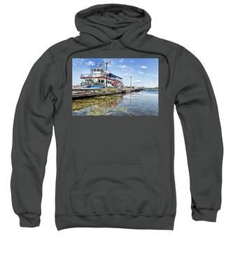 Island Princess At Harbour Dock Sweatshirt