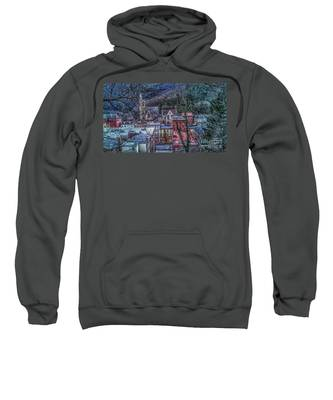 Jim Thorpe Pennsylvania In Winter #1 Sweatshirt