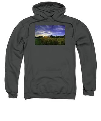 Last Rays Over The Flowers Sweatshirt