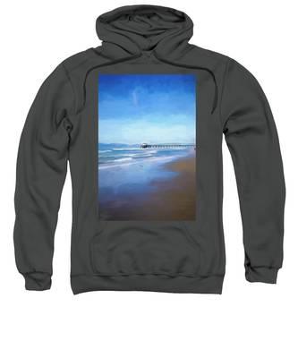 Manhattan Pier Blue Art Sweatshirt