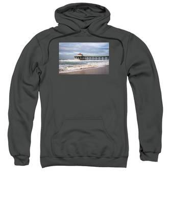 Manhattan Pier With Two Tankers Sweatshirt