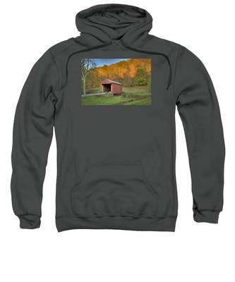 Old Red Or Walkersville Covered Bridge Sweatshirt