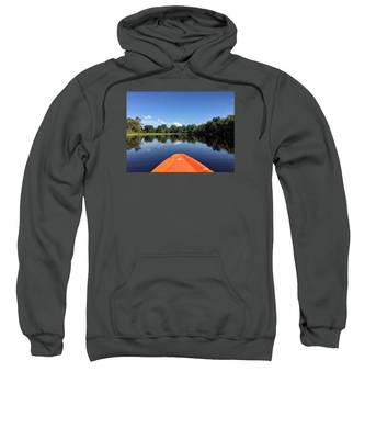 Orange Kayak  Sweatshirt