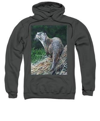 Otter On Branch Sweatshirt