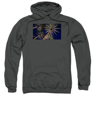 Palm Trees Wrapped In Lights Sweatshirt