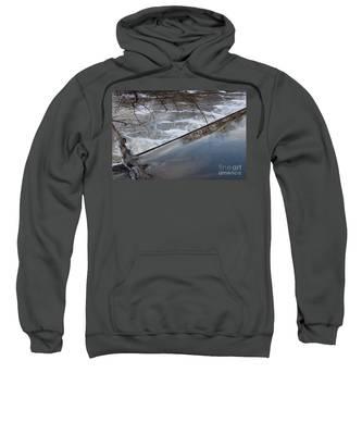 Pompton Spillway From Above Sweatshirt