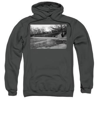 Falling Water On The Pompton Spillway In Winter Sweatshirt