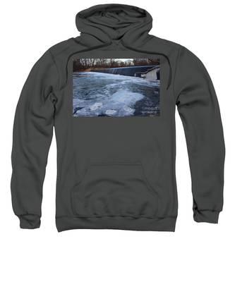 Pompton Spillway In Winter 2 Sweatshirt