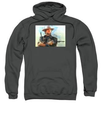 Portrait Of Clint Eastwood Sweatshirt