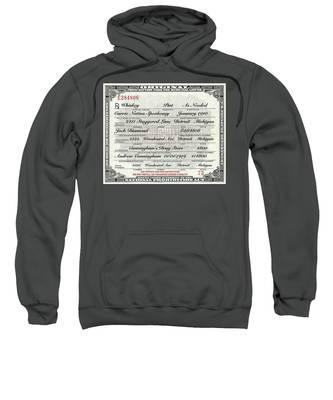 Prohibition Prescription Certificate Carrie Nation Speakeasy Sweatshirt