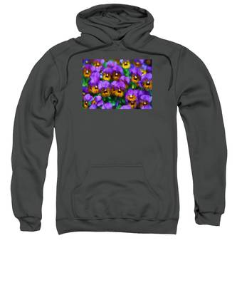Purple Pansies Sweatshirt