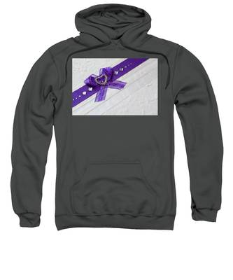 Purple Ribbon Heart Sweatshirt