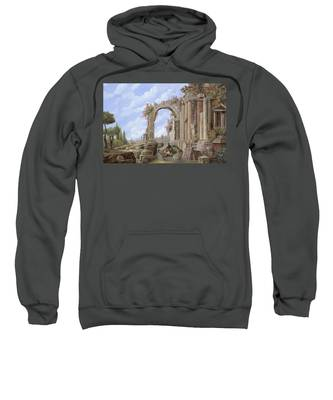 Roman Arch Hooded Sweatshirts T-Shirts