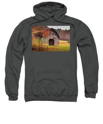 Rustic Barn In Autumn Sweatshirt