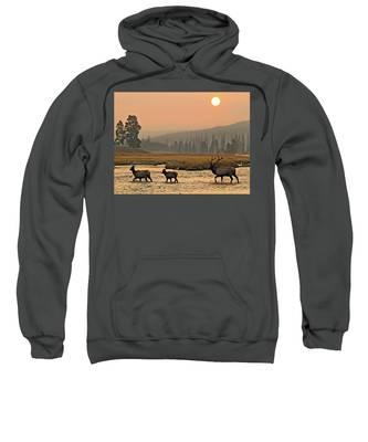 Smokey Elk Crossing Sweatshirt