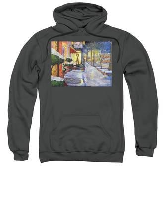 Soft Snowfall In Dahlonega Georgia An Old Fashioned Christmas Sweatshirt