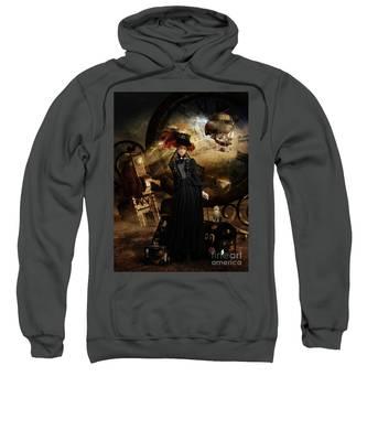 Steampunk Time Traveler Sweatshirt