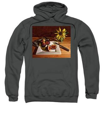 Still Life With Flower And Figs Sweatshirt