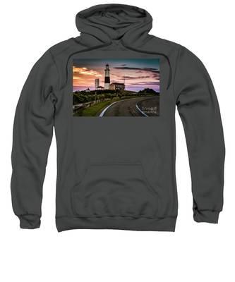 Sunrise Road To The Montauk Lighthous Sweatshirt