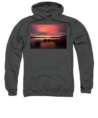 Sunset Reeds On Utah Lake Sweatshirt