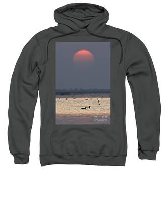 Sunset With Coots Sweatshirt