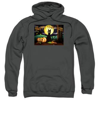 The Black Cat Greeting Card Sweatshirt