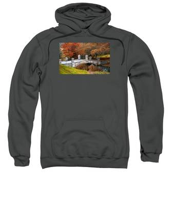 The Bridge To Autumn By Mike Hope Sweatshirt