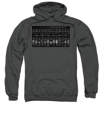 Sweatshirt featuring the digital art Thirteen Moonstar Chart by Derek Gedney