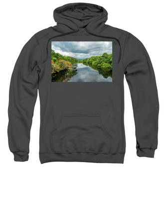 Cloudy Skies Over The River Sweatshirt