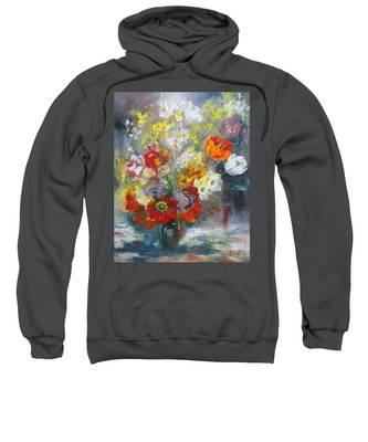 Tulips, Narcissus And Forsythia Sweatshirt